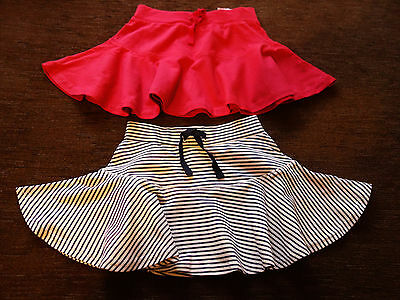Girls' 2 Pack Matalan Cotton Red Hooped Skirts 18-23 Months New-Plastic String