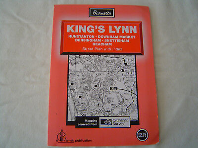 Barnett's Street Plan of King's Lynn, Downham Market with street index