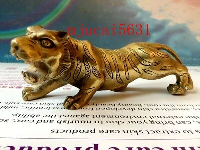 Bronze northeast tiger jungle collection decorated with Chinese statues
