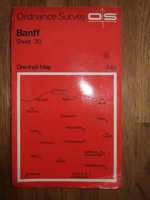 "OS 1"" map Banff sheet 30  1964 reprint"