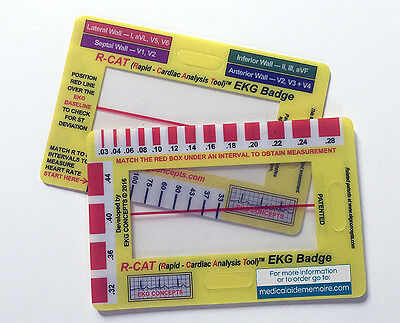 ECG Card (EKG) R-CAT Badge. ECG tool for paramedics, nurses and doctors