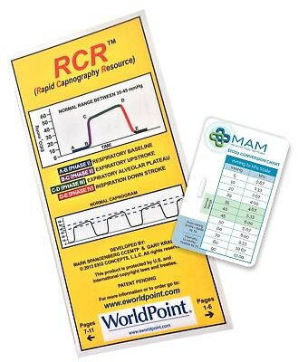RCR booklet for Students, Paramedics, Nurses, Doctors with FREE EtCO2 Chart