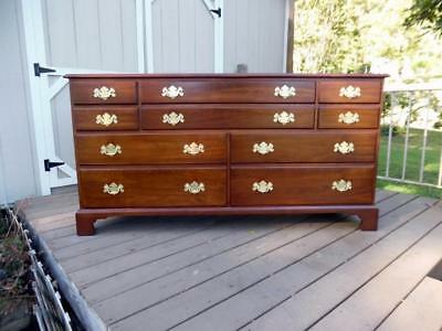Vintage Henkel Harris Solid Wild Black Cherry 10 Drawer Dresser #124 Color #24