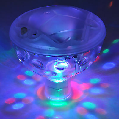 Floating Underwater LED Disco Light Glow Show Swimming Pool Tub Spa Lamp Hot