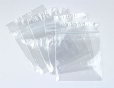 100 GRIP SEAL BAGS Self Resealable Clear Polythene Poly Plastic ZipLock 27 Sizes