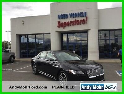 2017 Lincoln Continental Select Used 17 Lincoln Continental Select 3.7L V6 Auto FWD Sedan Sunroof Black Leather