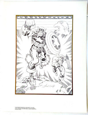 Captain America 50th Birthday Commemorative Lithograph by Jack Kirby Signed