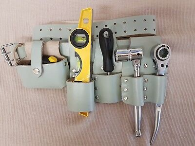 Scaffolding Visible Leather 5in1 Tools Belt 4Pcs ToolSet 10'' Steel Ratchet 1921