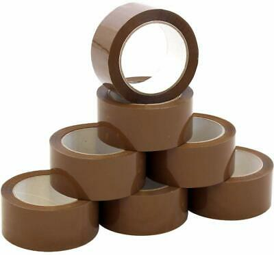 144 Strong Brown Buff Parcel Packaging Packing Tape 50MM x66M Box Sealing Rolls