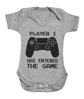 Player 1, 2, 3, 4 Has Entered the Game (with Controller) cute babygrow