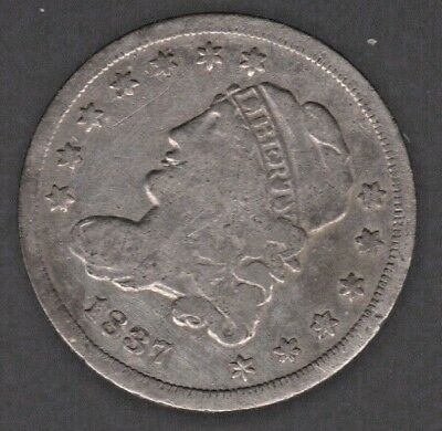 1837 Capped Bust Silver Half Dime