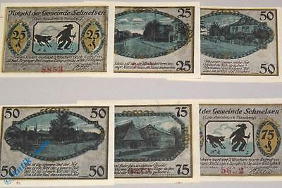 6 x Notgeld Schnelsen , german emergency money M/G 1192.1 ,  kfr./unc