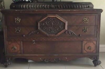 Antique Wood Chest of Drawers Vintage - Unknown - Bader Bros Inc Tag