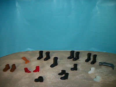 "Vintage 8"" to 12"" Action Figure mixed lot of shoes and boots lot 3"