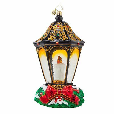 Radko 1017617 Christmas Light Limited Edition 322 of 1200 CANDLE AND LAMP ORNAME
