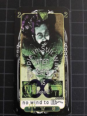 VTG Grateful Dead Jerry Garcia Rock and Roll TAROT card Ripple Two 2 Card FREE S