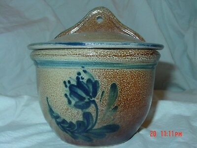 Rowe pottery 2004 Historical salt cellar with lid, 2 pieces