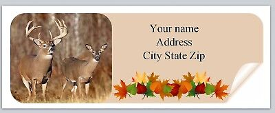 Personalized Address labels Fall Autumn Deer Buy 3 get 1 free (ac 971)