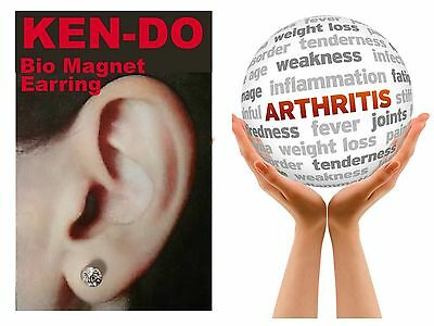 NEW - KEN-DO Bio Magnet Healing Earring Arthritis Pain Relief Magnetic Therapy