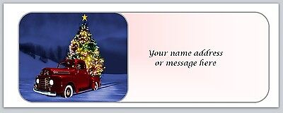 30 Personalized Christmas Return Address Labels Buy 3 get 1 free (bo 673)