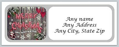 30 Personalized Address Labels Christmas Buy 3 get 1 free (ac 154)