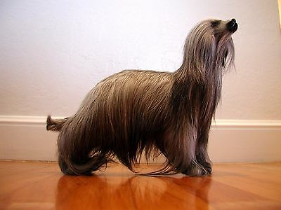 New Standing Afghan handcrafted furry animals made from goat fur D622