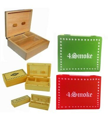 New Wooden Rolling Box Roll Tobacco Cigarette Tray Smoking Stash Snuff Smokers
