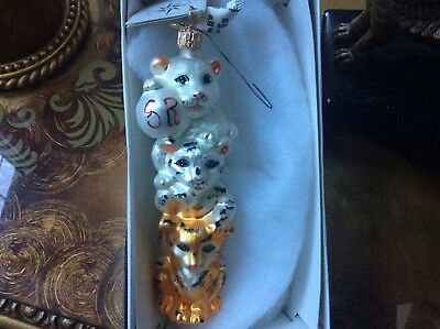 Christopher Radko, Limited Edition 1564/2500 Siegfried and Roy, Magical Triplets