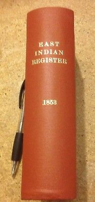 The East India Register And Army List 1853. F. Clark. Bengal, Madras, Bombay