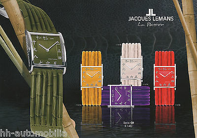Uhrenkatalog Jacques Lemans Passion 2003 D catalog watches Armbanduhren Prospekt