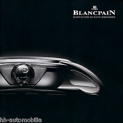 Uhrenkatalog Blancpain 2010 (GB F) catalog watches montres Réveil GMT Carrousel