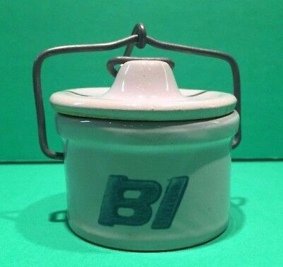 Vintage 1970's Braniff International Cheese/Butter Crock Individual Size 1