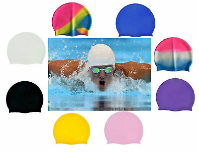 New Swimming Cap Unisex Adult Pool Hat Children Silicone Waterproof Kids Shower