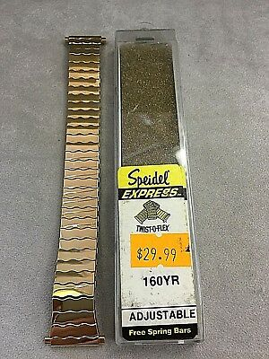 18 19 20 21 22 mm  Vintage SPEIDEL GOLD SS WATCH BAND Flexible Stretch Expansion