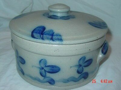 Rowe pottery 1989 Limited Edition covered crock, numbered 508/1500