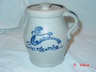 Rowe pottery 1989 Limited Edition crock with lid numbered 508/1500