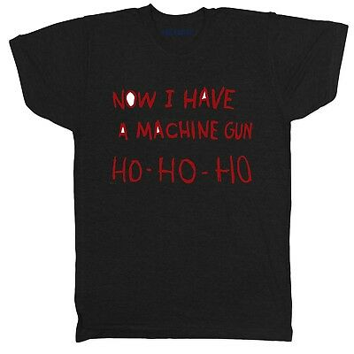 DIE Hard Inspired Machine Gun Ho Movie Film Drama Tumblr Crime Christmas T Shirt