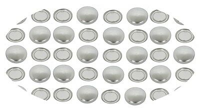 50 Fabric Cover Buttons 23mm Flatback Cabochon  DIY win 1 free tool set