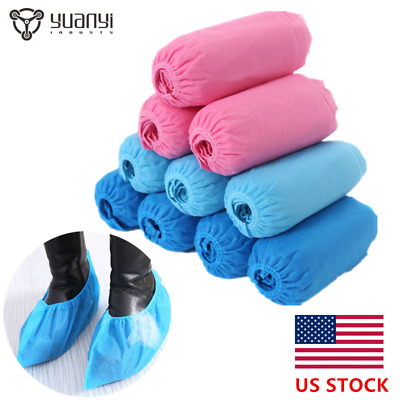 100 Pcs Disposable Shoe Covers Non-Skid/ Medical/ Extra Large To Size 13 Value