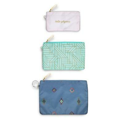 Vera Bradley - Pencil Pouch Trio - Painted Medallions - Three Pieces Included!