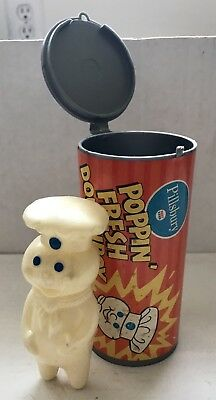 70's Vintage Pillsbury Poppin Fresh Doughboy FIGURE in CAN advertising character