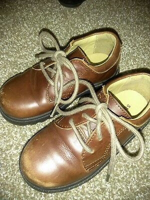 Stride Rite James Boys Size 9.5 M Leather Dress or Play Shoes Brown