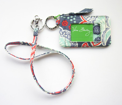 *New with tags*Vera Bradley Zip ID Case and Lanyard in Nomadic Floral