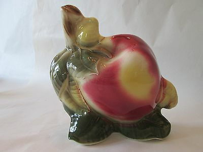 APPLE WALL POCKET! Vintage ROYAL COPLEY art pottery: APPLE pattern: EXCELLENT!