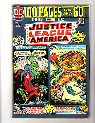 Justice League of America #115 (1975, DC) VG+ 100-Page Giant Batman Denny O'Neil