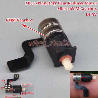DC 5V 2 phase 4 wire Micro 6mm Planetary Gearbox Gear Stepper Motor DIY Robot