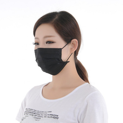 Disposable Earloop Face Mask Germ Dust Protection Four Layer Carbon Filter 50pcs