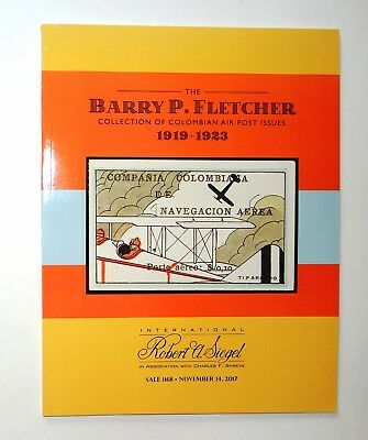 Robert Siegel Auction Catalog Barry Fletcher Collection Colombian Air Post Stamp