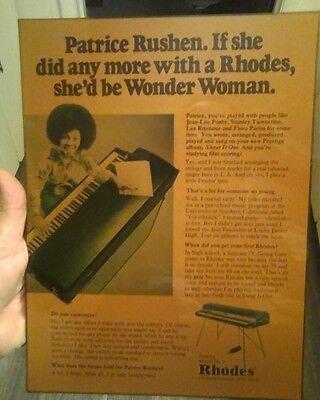 vintage Fender Rhodes store counter display 1970s Patrice Rushen