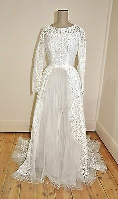 Vintage 50's/60's  MAJORA Creation Lace & Tulle Wedding Dress